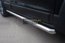 Chevrolet Captiva 2012 Пороги труба d63  (вариант 1) CHCT-0008281