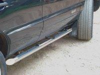 Chevrolet NIVA Пороги труба d76 с накладками (вариант 1) NCT-0001851