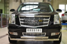 Cadillac Escalade 2007-  Защита переднего бампера d76 (дуга) d76 (дуга) KEZ-001687