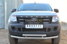 Ford Ranger 2012 Защита переднего бампера d76 (секции) d63 (дуга) FRZ-001297