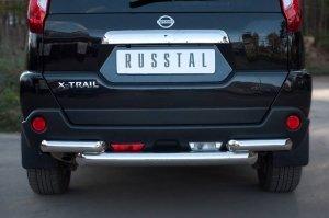 NISSAN X-Trail 2011 защита заднего бампера d76/63 NTZ-000919