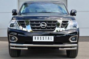 Nissan Patrol 2014- Защита переднего бампера d63 (секции) d63 (уголки) PATZ-001725