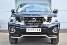 Nissan Patrol 2014- Защита переднего бампера d63 (волна) PATZ-001727