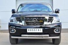 Nissan Patrol 2014- Защита переднего бампера d76 (дуга) d76 (дуга) PATZ-001730