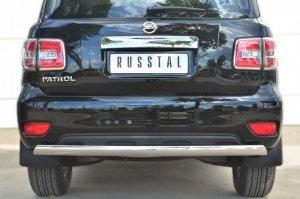 Nissan Patrol 2014- Защита заднего бампера d75х42 (дуга) PATZ-001736