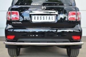 Nissan Patrol 2014- Защита заднего бампера d63 (секции) PATZ-001737