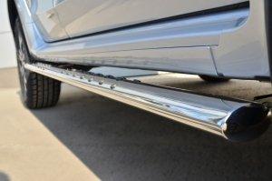 Nissan Terrano 2014-  Пороги труба 75х42 овал с проступью NTRO-001793