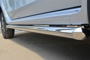 Nissan Terrano 2014-  Пороги труба d63 (вариант 1) NTRT-001787
