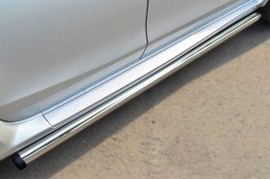 Nissan Terrano 2014-  Пороги труба d63 (вариант 2) NTRT-001788