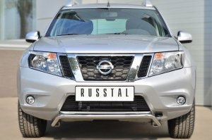 Nissan Terrano 2014-  Защита переднего бампера d42 (волна) под машину NTRZ-001784