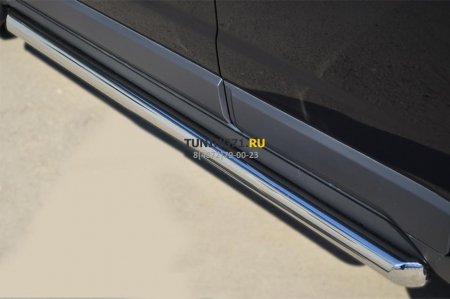 Opel Antara 2012- Пороги труба d63 (вариант 1) OAТ-0013681
