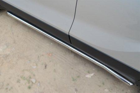 Opel Mokka 2013- Пороги труба d42 (вариант 1) OMT-001354