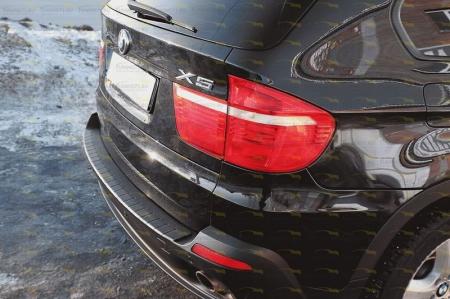 BMW-X5(Е70) 2010—2013-Накладка на задний бампер-шагрень