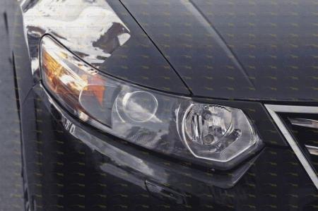 Honda-Accord 8 2010—2012-Накладки на передние фары (реснички) компл.-2 шт.-глянец (под покраску)