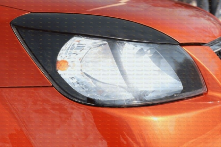 Kia-Rio (DE) 2005—2011-Накладки на передние фары (реснички) компл.-2 шт.-глянец (под покраску)
