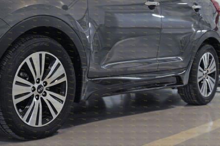 Kia-Sportage 2014—н.в.-Тюнинг обвес порогов-глянец (под покраску)