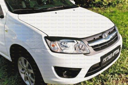 Lada-Granta (седан) 2011—2015-Накладки на передние фары (реснички)-глянец (под покраску)