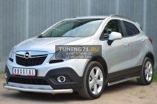 Opel Mokka 2013- Защита переднего бампера d63 (секции) OMZ-001350