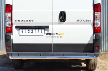 Peugeot Boxer L1H1  2012- Защита заднего бампера d63 (прямая) PBZ-001657
