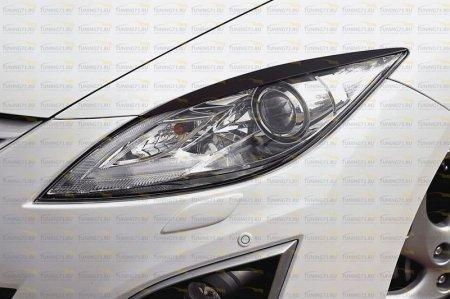 Mazda-6 2007—2010-Накладки на передние фары (реснички) компл.-2 шт.-глянец (под покраску)