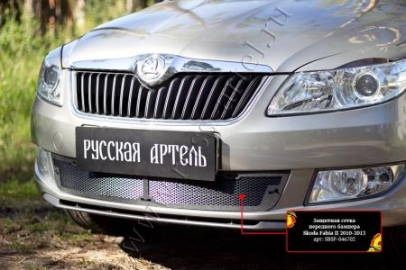 Skoda-Fabia II 2010—2013-Защитная сетка переднего бампера-шагрень