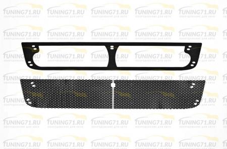 Toyota-Hilux 2011-2013-Защитная сетка переднего бампера-шагрень