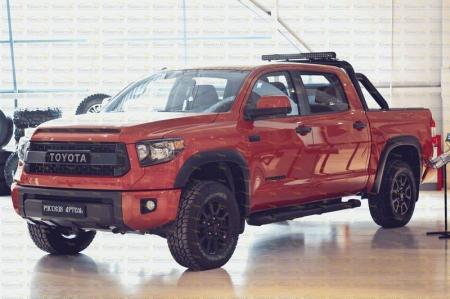 Toyota-Tundra 2013-н.в.-Накладки на передние фары (реснички)-глянец (под покраску)