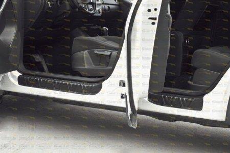 Volkswagen -Tiguan 2011-н.в.-Накладки на внутренние пороги дверей-шагрень