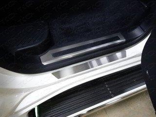 Toyota Land Cruiser 200 2015 Накладки на пороги (лист шлифованный)