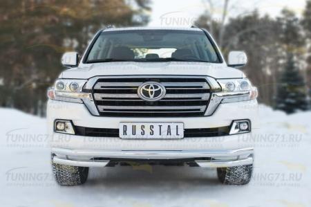 Toyota Land Cruiser 200 2015 Защита переднего бампера d63 (секции) d63 (уголки) TLCZ-002159