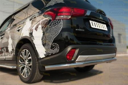 Mitsubishi Outlander 2015- Защита заднего бампера d63 (секции) MOZ-002115
