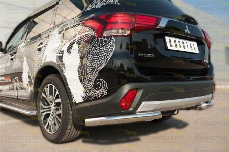 Mitsubishi Outlander 2015- Защита заднего бампера уголки d63 (секции) MOZ-002116