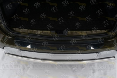 RENAULT Duster 2015 Накладка на задний бампер (лист нерж зеркальный) RDN-002189