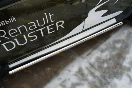 RENAULT Duster 2015 Пороги труба d63 (вариант 3) RDT-0021803