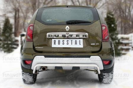 RENAULT Duster 2015 Защита заднего бампера d42 (волна) RDZ-002186
