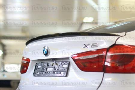 2015-  BMW X6 F16 Лип спойлер ABS пластикСпойлер 1 шт.