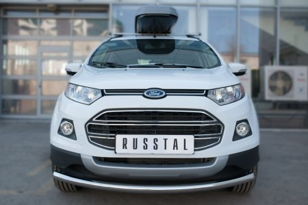 Ford Ecosport 2014- Защита переднего бампера  d63 (дуга) FEZ-002053