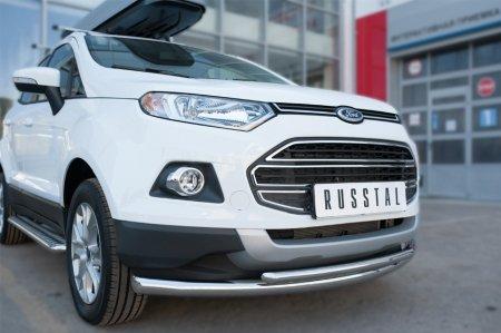 Ford Ecosport 2014- Защита переднего бампера d63 (дуга) d42(дуга) FEZ-002054