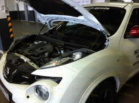 Газовые упоры капота Nissan Juke 2014-