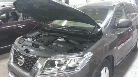 Газовые упоры капота Nissan Pathfinder R52 2014-