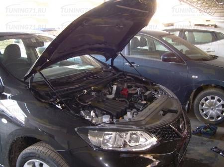 Газовые упоры капота Nissan Tiida 2 2015-