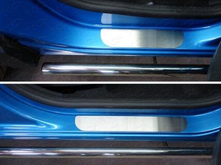 Renault Kaptur 2016-Накладки на пороги (лист шлифованный)