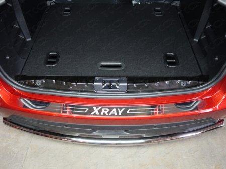 Lada XRAY(x-ray) 2016-Накладка на задний бампер (лист зеркальный надпись XRAY)