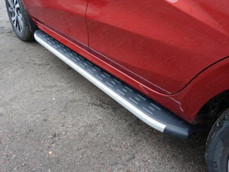 Lada XRAY(x-ray) 2016-Пороги алюминиевые с пластиковой накладкой 1720 мм