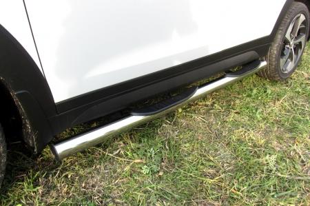 Hyundai TUCSON 2015 - 4WD -Защита порогов d76 с проступями
