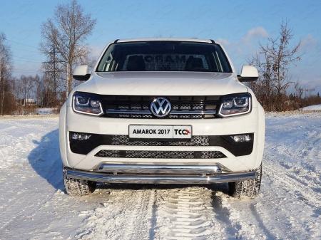 Volkswagen Amarok 2016- Защита передняя нижняя (двойная) 76,1/75 мм