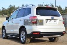 Subaru Forester 2013 Защита заднего бампера 75х42 (дуга) SUFT-001606