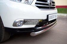 Toyota Highlander 2010 защита переднего бампера d 76 THZ-000738