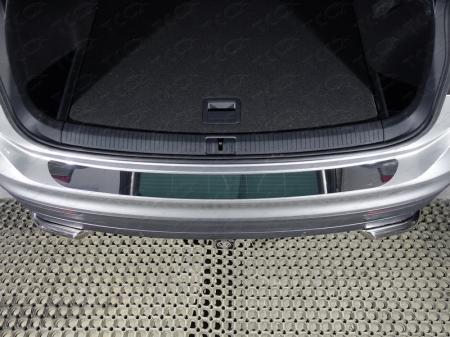 Volkswagen Tiguan 2017- Накладка на задний бампер (лист зеркальный)