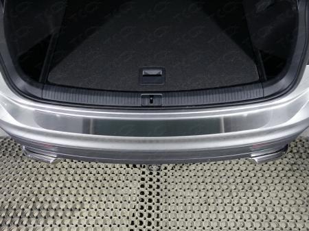 Volkswagen Tiguan 2017- Накладка на задний бампер (лист шлифованный)